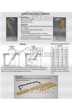 Escalera plegable para altillo cool escalera para altillo - Como hacer una escalera plegable para altillo ...